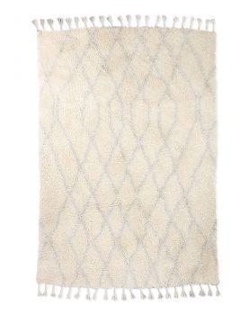 woolen berber rug zigzag light blue (180x280)-0