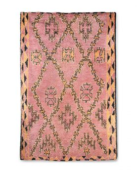 Hkliving hand knotted woolen berber rug terra/orange (180x280)-0