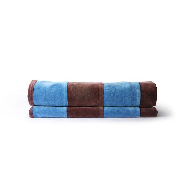 striped bedspread velvet blue/purple (150x240)-0