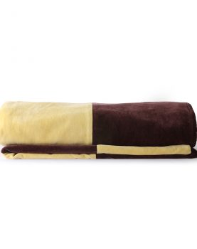 striped bedspread velvet purple/yellow (240x260)-0