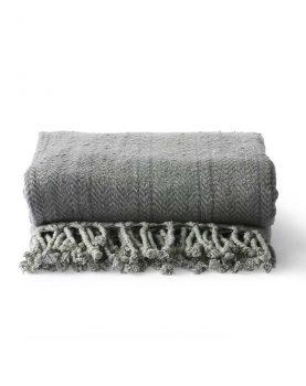 brushed cotton throw grey/purple (130x170)-0