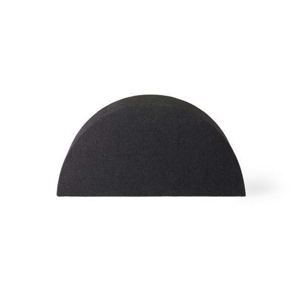 semicircle lampshade S black jute-0