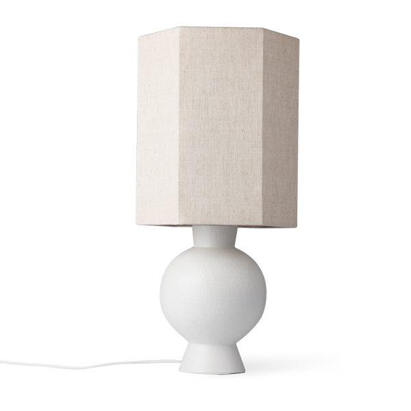 stoneware lampbase white M-28989