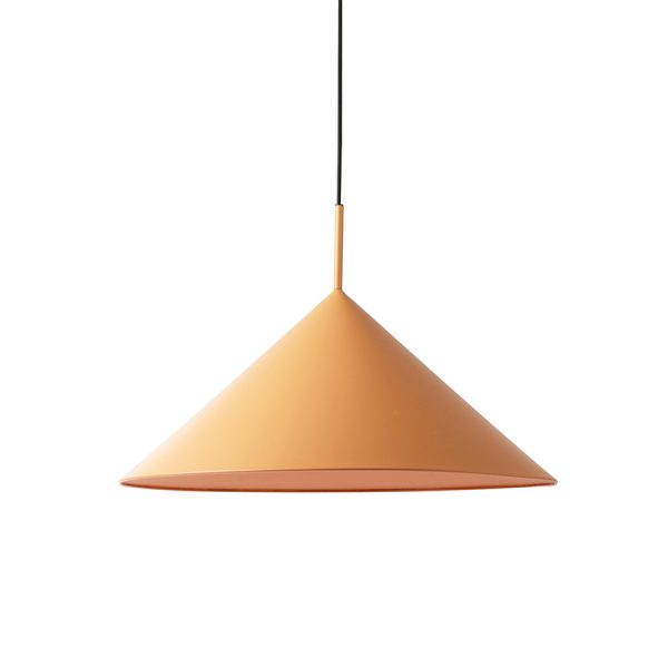 metal triangle pendant lamp L matt peach-0