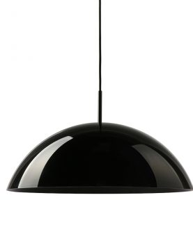 HKliving acrylic cupola hanging lamp black-29027
