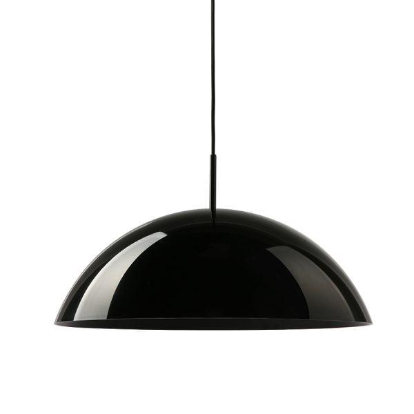 HKliving acrylic cupola hanging lamp black-29027