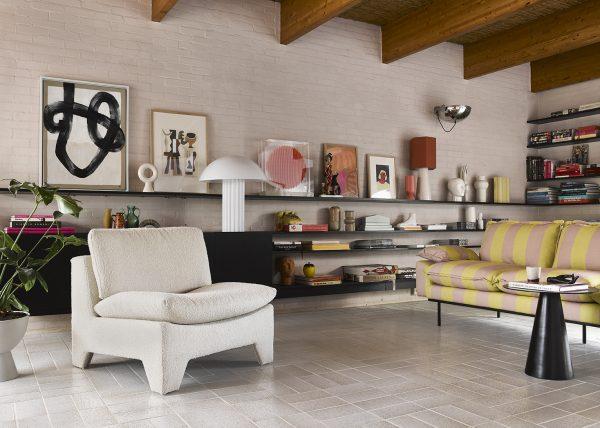 HKliving Suites Special: ceramic flower vase ribbed coral-29125