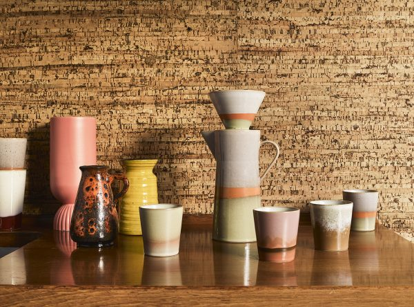 HKliving Suites Special: ceramic flower vase ribbed coral-29127
