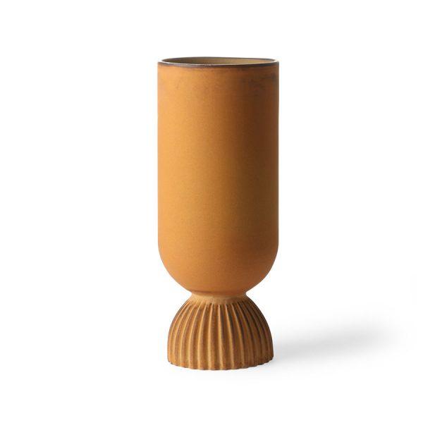 HKliving-vaas-roest-oranje-keramiek-rustiek-ACE6884