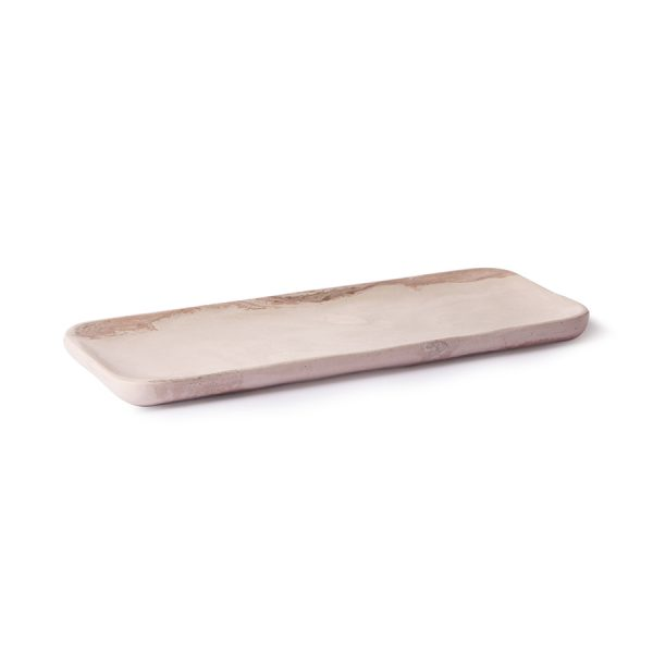 HKliving pink marble tray-29133