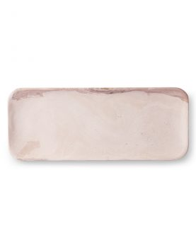 HKliving pink marble tray-0