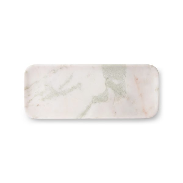 hkliving white/green/pink marble tray-0