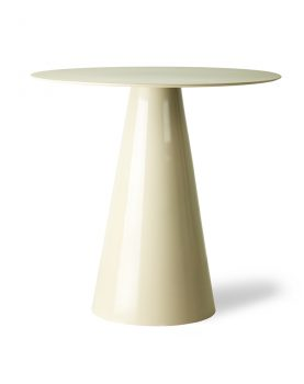 HKliving cream metal side table L-0