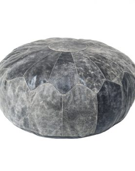 HKliving pouf rustic leather black XL-0