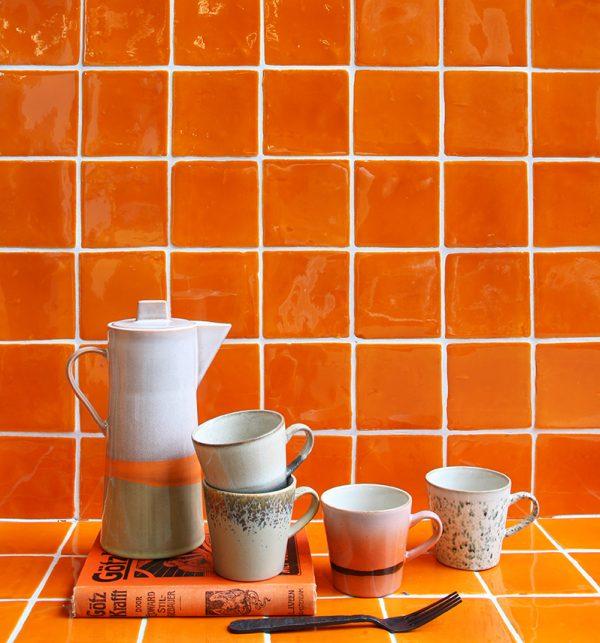 ceramic 70's americano mugs set of 4-29191