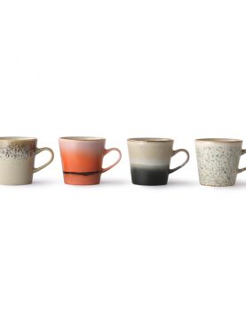 ceramic 70's americano mugs set of 4-29188