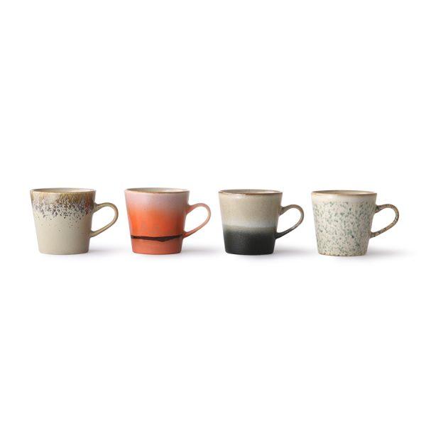 ceramic 70's americano mugs set of 4-29188