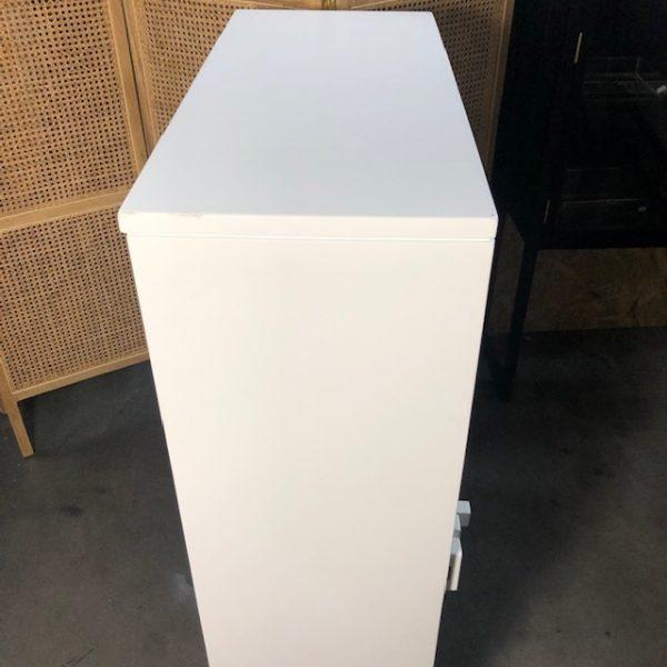 HK-living kast met enkele deur wit 81x36x122cm (outlet)-29278
