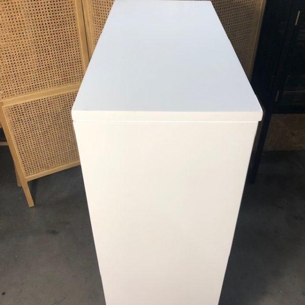 HK-living kast met enkele deur wit 81x36x122cm (outlet)-29277