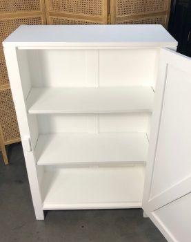 HK-living kast met enkele deur wit 81x36x122cm (outlet)-29276