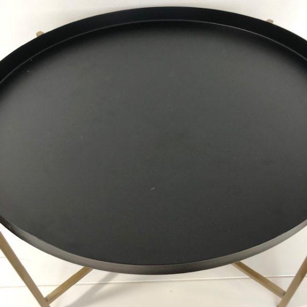 HK-living bijzettafel L zwart, messing rond 63x63x40cm (beschadigd)-29246