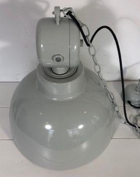"""HK-living hanglamp M """"Factory"""", licht grijs Ø 40 cm, industriële lamp, metaal, 40x45 cm (beschadigd)-29241"""