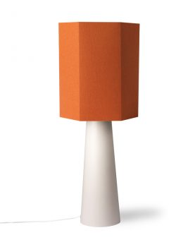hexagonal lampshade orange jute L-29431
