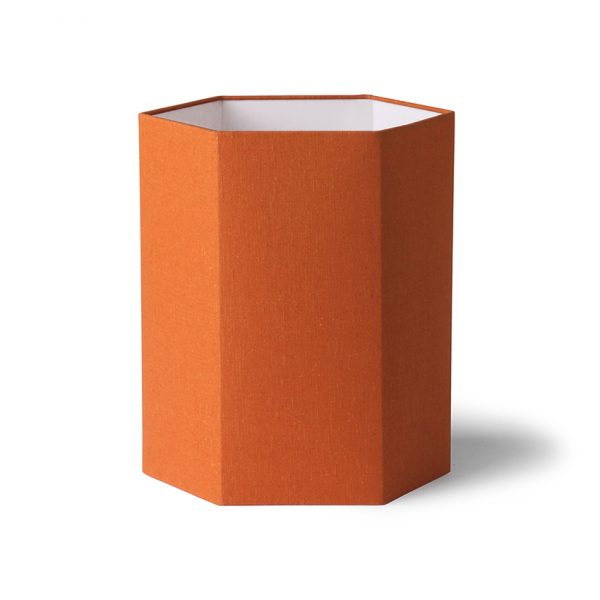 hexagonal lampshade orange jute L-0