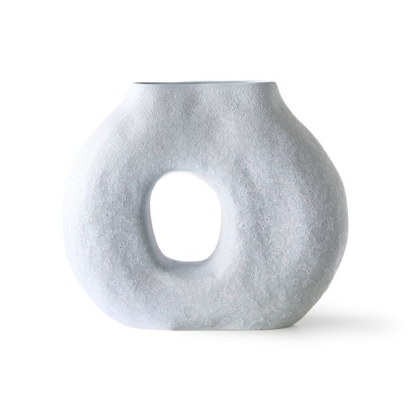 organic circle vase matt ice blue-0