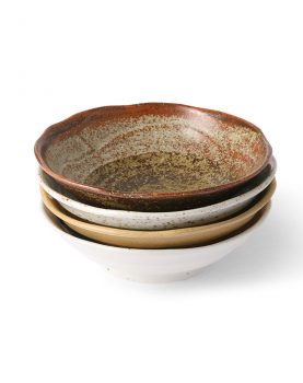 Kyoto ceramics: japanese shallow bowl (set of 4)-0