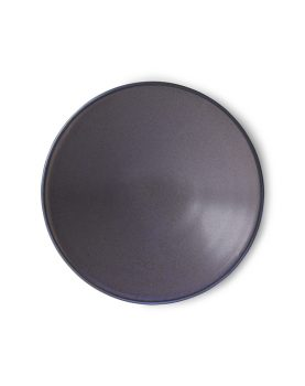 home chef ceramics: flat bowl purple-0