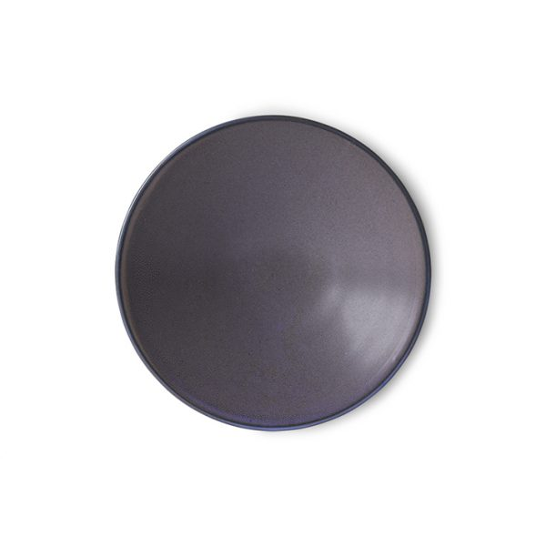 home chef ceramics: flat bowl purple-0
