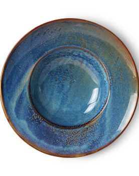 home chef ceramics: pasta plate rustic blue-0