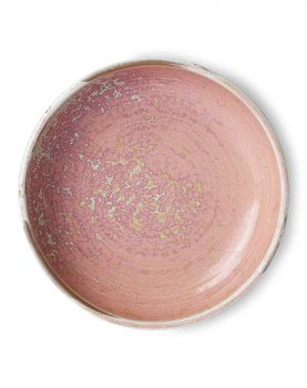 home chef ceramics: deep plate rustic pink-0