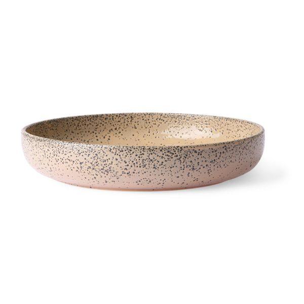 gradient ceramics: deep plate taupe (set of 2)-0