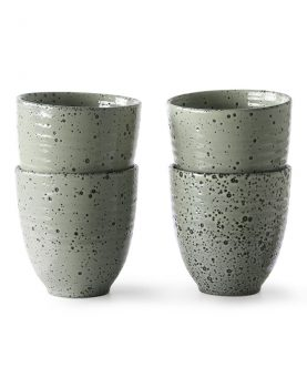 HKliving gradient ceramics mok groen (set van 4)-0
