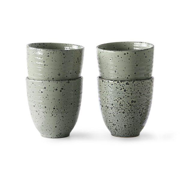 HKliving gradient ceramics mok groen (set van 4)-0