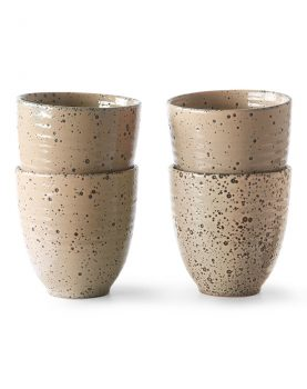 HKliving gradient ceramics: mok taupe (set van 4)-0