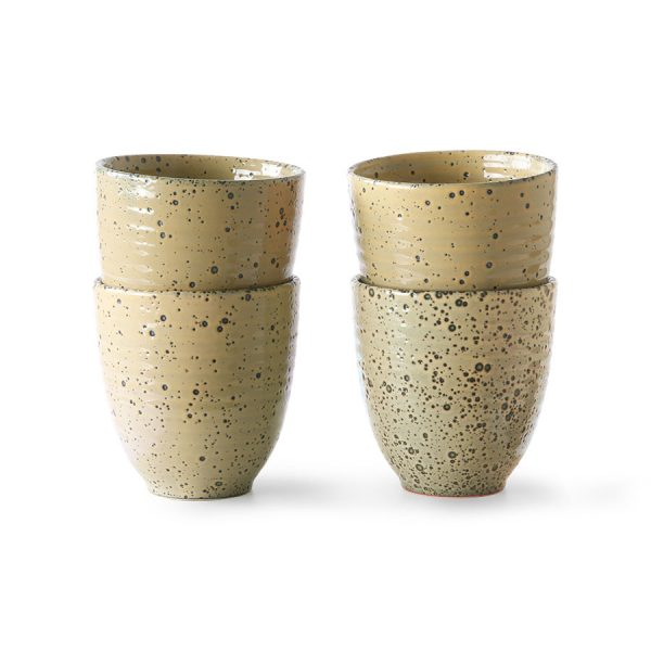 HKliving mok gradient ceramics peach (set van 4)-0