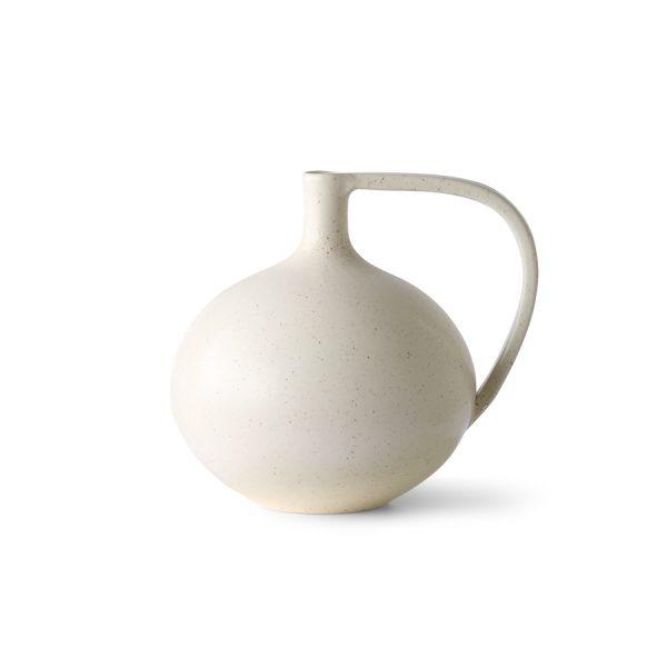 ceramic jar M white speckled-0