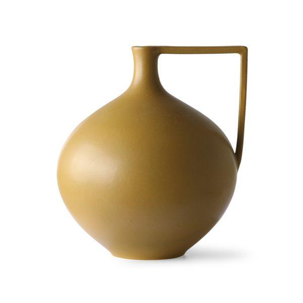 ceramic jar L mustard-0