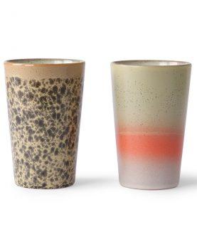 ceramic 70's tea mugs (set of 2)-0
