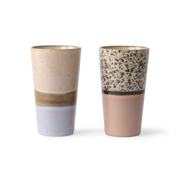 ceramic 70's latte mugs (set of 2)-0