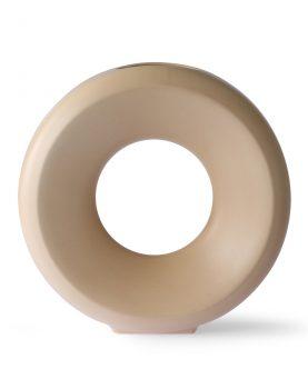 ceramic circle vase L sand-0