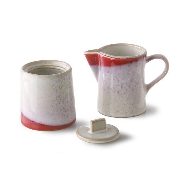HKliving seventies melk en suikerpot frost-30765