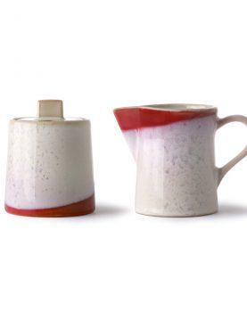 HKliving seventies melk en suikerpot frost-0