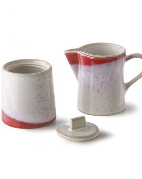 ceramic 70's milk jug & sugar pot