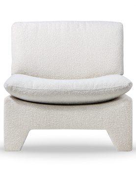 retro lounge fauteuil boucle cream