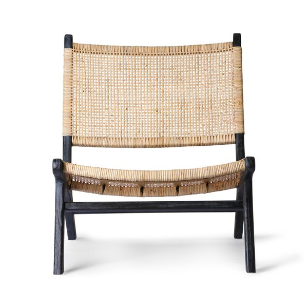 webbing lounge chair black/natural