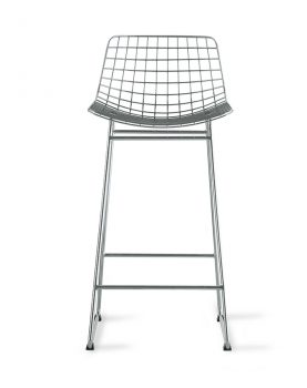 metal wire bar stool silver